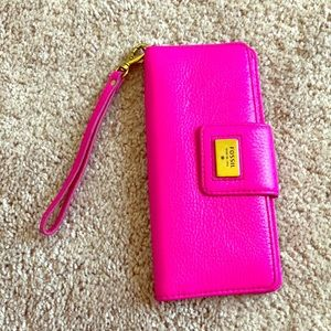 Fossil Hot Pink Wristlet Wallet